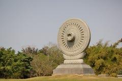 Dharma chakra. Dhamma chakra at Buddhist province in Thailand Stock Image