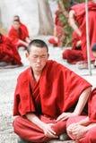 Dharma che dibatte ai sieri monastero, Tibet Fotografia Stock