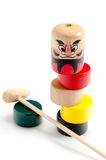 Dharma drop (Daruma Otoshi) Stock Images