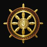 Dharma goldenes Buddhismussymbol Stockfotos