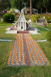 The Dharma Kai Temple in Mini Siam Park Royalty Free Stock Photography