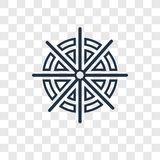 Dharma pojęcia wektorowa liniowa ikona odizolowywająca na przejrzystym backgr ilustracji