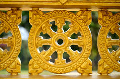 Dharma wheel Royalty Free Stock Photo