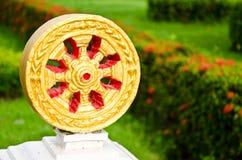 Dharma wheel of buddhism. At Nakhon Si Thammarat, Thailand Stock Images