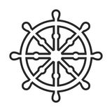 Dharma wheel, Buddhism  icon. In simple outline style. This icon are perfect for your websites and applications Stock Image