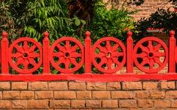 Dharma Wheel Buddhist-symbool stock foto's