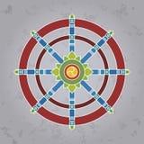Dharma Wheel, path to Nirvana Royalty Free Stock Images