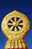 Dharma wheel on Jokhang Stock Photography