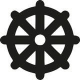 Dharma Wheel - Wheel of life. Vector Stock Photography