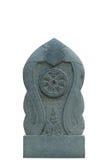 Dharmacakra, колесо закона, каменной скульптуры Стоковое Изображение