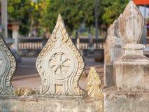 Dharmacakra in de tempel Stock Afbeelding