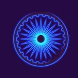 Dharmacakra, Dharma Wheel. Dharmachakra, Dharma wheel and glow light effect. Buddhist symbol Stock Photos