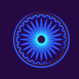 Dharmacakra, Dharma Wheel. Dharmachakra, Dharma wheel and glow light effect. Buddhist symbol Royalty Free Stock Photography