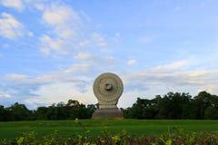Dharmacakra lub koło doktryna przy Phutthamonthon, Nakhon Pathom prowincja, Tajlandia obrazy stock