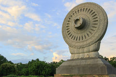 Dharmacakra or the wheel of doctrine at Phutthamonthon,Nakhon Pathom Province ,Thailand. Stock Images