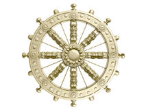 Dharmacakra. Or the Wheel of the Life. 3D isolated Stock Photography