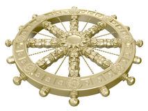 Dharmacakra. Or the Wheel of the Life. 3D isolated Stock Image