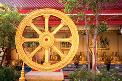 Dharmachakra or Wheel of Dhamma Stock Photography