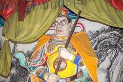 Dharmapala (protector del dharma), templo budista en Pekín, China. Imágenes de archivo libres de regalías