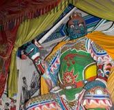 Dharmapala (protector del dharma), templo budista en Pekín, China. Foto de archivo