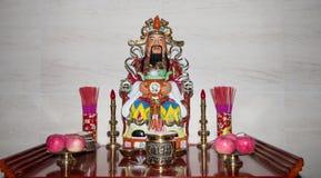 Dharmapala (protector del dharma), templo budista en Pekín, China. Fotografía de archivo
