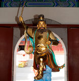 Dharmapala (protector of dharma), Buddhist temple in Beijing, China. Stock Photo