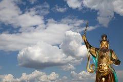 Dharmapala (protector of dharma), Buddhist temple in Beijing, China. Stock Photo