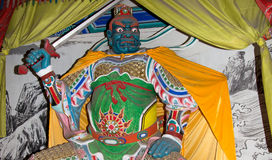 Dharmapala (protector of dharma), Buddhist temple in Beijing, China. Royalty Free Stock Photo