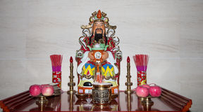 Dharmapala (protector of dharma), Buddhist temple in Beijing, China. Stock Photography