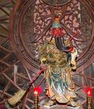 Dharmapala (protector of dharma), Buddhist temple in Beijing, China. Stock Image