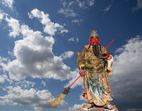 Dharmapala (protector of dharma), Buddhist temple in Beijing, China. Royalty Free Stock Photography