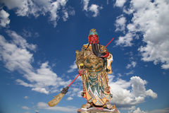 Dharmapala (protector of dharma), Buddhist temple in Beijing, China. Royalty Free Stock Image
