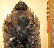Dharmapala (protector of dharma), Buddhist temple in Beijing, China Royalty Free Stock Photo
