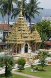 Dharmikarama Birmanetempel Lizenzfreie Stockfotografie