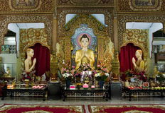 Dharmikarama Birmanetempel Stockbild