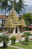 Dharmikarama burmese temple Royalty Free Stock Photography