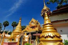 Dharmikarama Burmesetempel royaltyfria bilder