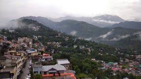 Dharmshala, india. Panoramic view of dhauladhar mountain range Stock Photos