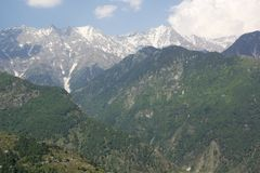 Dhauladhar山脉的美丽的景色 免版税图库摄影