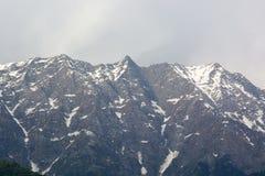 Dhauladhar山脉的美丽的景色 库存图片