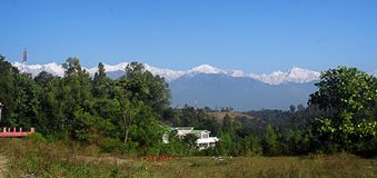 Dhauladhar Himalayas from Kangra Valley India Royalty Free Stock Photography