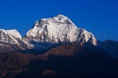 dhaulagiri峰顶 免版税库存照片