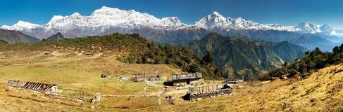 Dhaulagiri και Annapurna Himal - Νεπάλ Στοκ Εικόνες