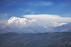 Dhaulagiri-Annapurna-Manaslu Himalayan Mountains Stock Photography