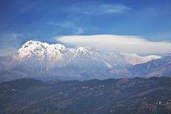 Dhaulagiri-Annapurna-Manaslu Himalayan Mountains. Image of the Dhaulagiri-Annapurna-Manaslu Himalayan Mountain Range, Nepal stock photography