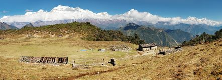Dhaulagiri and Annapurna Royalty Free Stock Images