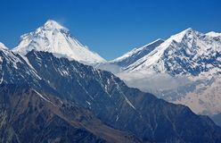 Dhaulagiri - berg in Himalayagebergte. 8.167 meters. Stock Afbeelding