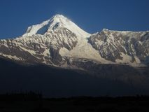 Dhaulagiri in the early morning Royalty Free Stock Photos