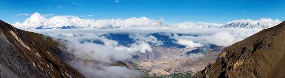 Dhaulagiri himal Royalty Free Stock Images