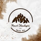 Dhaulagiri logo. vector illustration